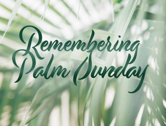 Remembering Palm Sunday